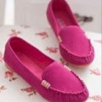 รองเท้าหุ้มส้น ผู้หญิง รองเท้าส้นแบน แบบเรียบ หนังแท้ โชว์สีสัน รองเท้าปิดหน้าเท้า ลดราคา รองเท้าใส่เที่ยว ใส่ทำงาน สีชมพู 556014_2