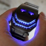 นาฬิกาข้อมือ รูปหน้าหุ่นยนต์ ญึ่ปุ่น ระบบ ไฟ Led ดิจิตอล แปลกใหม่ ไม่เหมือนใคร