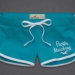 กางเกงขาสั้น กางเกงฟิตเนส กางเกงโยคะ Hollister Pacific กางเกงผู้หญิง ขาสั้น สีฟ้า ขอบขาว no 93812_5
