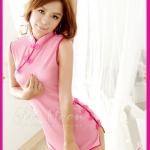 ชุดจีน สีชมพูผ้าซีทรู น่ารัก