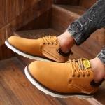 รองเท้าผ้าใบ ผู้ชาย รองเท้าใส่เที่ยว รองเท้าหุ้มส้น รองเท้าหนัง แบบกันน้ำได้ รองผู้ชาย ใส่ทำงาน สีน้ำตาลอ่อน สไตล์ คาวบอย วินเทจ 871607_2