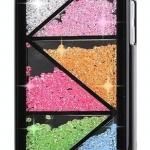 เคส iPhone 5c ประดับเม็ดคริสตัล ด้านใน คล้ายเม็ดทราย เคส แบบ เก๋ งาน Hand made ไม่ซ้ำใคร ลายสามเหลี่ยมประกอบกัน สีดำ สีขาว no 98246_8