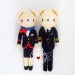 ตุ๊กตาถัก คู่รัก นักบิน - แอร์ สูง 9 นิ้ว