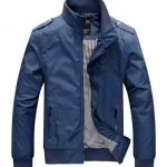 เสื้อ แจ็คเก็ต ผู้ชายแขนยาว เสื้อกันลม สีน้ำเงิน สว่าง ผ้า Nylon,Polyester 2 ชั้น เสื้อแจ็คเก็ต แบบเท่ ๆ สีสวย สไตล์ยุโรป 580383