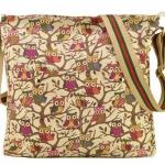 กระเป๋าสะพายข้างผู้หญิง แบบน่ารัก ลายนกฮูก ลาย Print แบบสวยเก๋ สีเบจ กระเป๋าสะพาย สไตล์วินเทจ น่ารักมากค่ะ 1922
