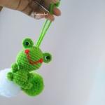 ที่ห้อยกระเป๋า พวงกุญแจตุ๊กตาเคโระ dolls pom pom amigurumi crochet keychain