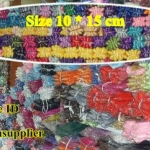 ถุงผ้าไหมแก้ว ขนาด 10*15 ซม สีพื้น เหลือง ม่วง ฟ้า เขียว 100 ใบ