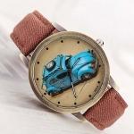นาฬิกาข้อมือ วัยรุ่น หน้าปัด รถเต่า นาฬิกาข้อมือ ดีไซน์เก๋ เท่สุด ๆ สีแดง no 999965_1