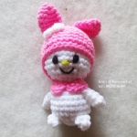 ตุ๊กตามายเมโลดี้ถักไหมพรม ขนาด 4 นิ้ว My melody amigurumi crochet dolls 4 inches