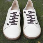 รองเท้าหุ้มส้น ผู้หญิง รองเท้าหนังแท้ รองเท้าผ้าใบหนัง แท้ แบบไม่มีส้น รองเท้า ใส่เที่ยว สีครีม ขาว ใส่ได้หลายโอกาส สไตล์ วินเทจ หนังนิ่ม 903277_4