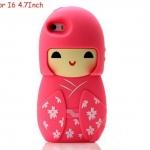 เคส iphone 6 ขนาด 4.7 นิ้ว เคสกิโมโน ตุ๊กตา จากประเทศญี่ปุ่น เคสซิโลโคน อย่างดี ตุ๊กตาใส่ชุดกิโมโน สีชมพู กุหลาบ 546970_5