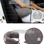 Travel Pillow U-shaped neck pillow - หมอนโฟมรองคอ หนุนเอว พกพาสำหรับขับรถ พกพาเดินทางบนเครื่องบิน - สีน้ำตาล