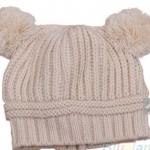 หมวกไหมพรม สำหรับเด็ก มีหู 2 ข้าง น่ารักมาก ๆ ค่ะ สี เบจ no 70342_4