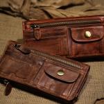 กระเป๋าสตางค์ผู้ชาย กระเป๋าสตางค์ หนังแท้ สไตล์ วินเทจ คลาสสิคเท่ ๆ กระเป๋าหนังแท้ ทนทาน แบบสวย ของขวัญให้แฟน เท่ ๆ สุดหรู 228841