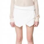 กางเกงขาสั้นผู้หญิง กางเกง กระโปรง สีขาว แบบ มินิ กางเกง ดีไซน์ ด้านหน้า เป็นผ้าปิด เป็น กระโปรงสั้น แบบสวย แฟชั่น ยุโรป 31853_1
