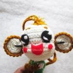 พวงกุญแจลิงถักไหมพรม ขนาด 4 นิ้ว monkey crochet keychain 4 inch