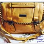 กระเป๋าถือ กระเป๋าสะพาย Jimmy สีเหลือง หนังนิ่ม แต่งโซ่ กระเป๋าถือผู้หญิง แบบสวย ใส่ของได้เยอะ สินค้าลดราคา Sa0020