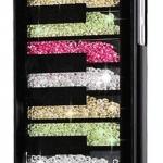เคส iPhone 5c ประดับเม็ดคริสตัล ด้านใน คล้ายเม็ดทราย เคส แบบ เก๋ งาน Hand made ไม่ซ้ำใคร ลูกเล่นชั้นสี่เหลี่ยมสลับ สีดำ สีขาว no 98246_6