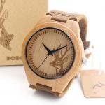 นาฬิกาข้อมือ ผู้ชาย ผู้หญิง ใส่ได้ นาฬิกา แนวใหม่ สายหนังแท้ ผสมผสาน กับ งานไม้ ดีไซน์สวย นาฬิกา สไตล์วินเทจ เหมาะสำหรับ นักสะสม ของขวัญ 603876