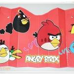 ม่านบังแดดรถยนต์ ลาย Angry Birds สีแดง