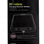 Qi Wireless ชาร์จ แผ่นรับสัญญาณ สำหรับ ที่ชาร์จ แบบ wireless ใช้ได้กับ โทรศัพท์ที่ใช้ Micro USB ที่รับสัญญาณ wireless charger no 44155