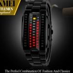 นาฬิกาข้อมือ ผู้หญิง ผู้ชาย ใส่ได้ แบบ Led สไตล์หุ่นยนต์ สีดำ มีฟังก์ชั่นบอก เวลาแบบ แสงไฟ เท่ ๆ ใช้งานทนทาน ด้วย Japanese battery no 725305
