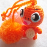 พวงกุญแจตุ๊กตา ฮิโตะคาเงะ dolls pom pom amigurumi crochet keychain