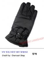 ถุงมือกันหนาวผ้า ชาย สีดำ