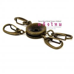 พวงกุญแจ สีทองเหลืองรมดำ