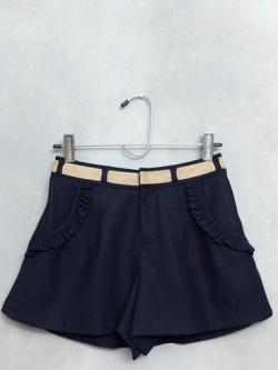 กางเกงขาสั้นสีน้ำเงิน MISCH MASCH