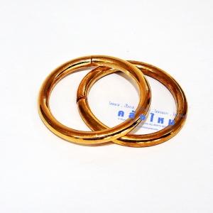 ห่วงเหล็กกลม สีทอง 31 มิล 1แพ็ค / 2ชิ้น