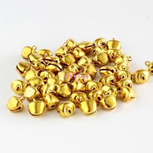กระพรวนชาวเขา ขนาดกลาง สีทอง (50p)