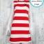 LOT SALE!! Dress3566 ชุดเดรสน่ารัก อกสกรีนกระต่าย Playboy ผ้าแมงโก้ยืดเนื้อนิ่มหนาสวย ลายริ้วใหญ่สีขาวแดง thumbnail 1