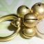 (ขายแล้วค่ะ) C014 แหวนทองเหลือง ประดับหินโรสควอตซ์ thumbnail 2