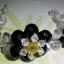 (ขายแล้วค่ะ) L06 สร้อยข้อมือถักรูปดอกไม้ คริสตัลโมดาร์สีดำ thumbnail 2