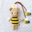 """ตุ๊กตาถัก หมีผึ้ง 6"""" + ผึ้งน้อย thumbnail 4"""