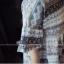 **สินค้าหมด Dress3870 ชุดเดรสน่ารักผ้าชีฟองทึบแสงลายทางดอกไม้ แขนสามส่วนระบาย ผ้าเนื้อดีนิ่มใส่สบาย thumbnail 7