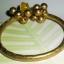 (ขายแล้วค่ะ) B001 กำไลทองเหลือง หยกน้ำผึ้ง ขนาดความกว้างวง 5.90-6 ซม thumbnail 3