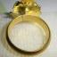 C006 แหวนรูปดอกไม้ ทองเหลือง100% thumbnail 3