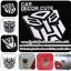 TRANSFORMER - ขนาด 9.5 X 9.5 CM โลโก้ทรานฟอร์มเมอร์ ติดรถ Logo Transformer thumbnail 1