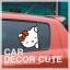 ( ลด 10 % ) HELLO KITTY - สติ๊กเกอร์ตกแต่งรถยนต์ คิตตี้แอบติดหน้าต่างรถยนต์ thumbnail 1