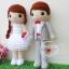 """ตุ๊กตาถัก คนแต่งงาน 17"""" thumbnail 2"""