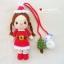 """ตุ๊กตาถัก ซานตี้ 6"""" + ตุ๊กตาหิมะ thumbnail 2"""