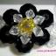 (ขายแล้วค่ะ) L06 สร้อยข้อมือถักรูปดอกไม้ คริสตัลโมดาร์สีดำ thumbnail 1