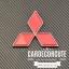 MITSUBISH - ตราโลโก้มิตซูบิชิ สีแดง ( 3 ขนาด ) thumbnail 1