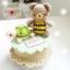 """ตุ๊กตาถัก เต่า+หมีผึ้ง บนกล่องดนตรี 7"""" thumbnail 1"""
