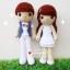 """ตุ๊กตาถัก คู่รัก แนวเกาหลี 12"""" thumbnail 2"""