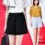 SALE!! Shorts490 กางเกงแฟชั่นเกาหลี กางเกงขาสั้นซิปหน้ากระเป๋าข้าง ผ้าคอตตอนผสมลินินเนื้อดีมีน้ำหนักทิ้งตัวไม่ยับง่าย งานสวยผ้านุ่มใส่สบายแมทช์กับเสื้อได้หลายแบบ มี 2 สี ดำ, เทาอ่อน thumbnail 6