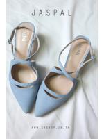 รองเท้า แบรนด์ JASPAL สีฟ้าพาสเทล