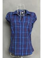 เสื้อเชิ้ต H&M ลายสก็อตสีน้ำเงิน